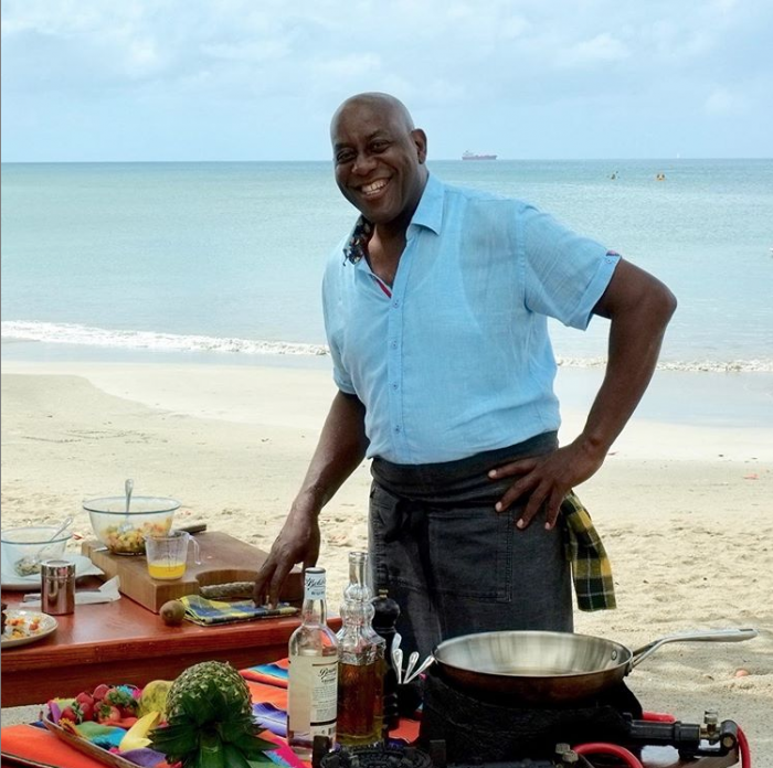 Ainsley HArriot Shirts Claudio Lugli Caribbean Kitchen