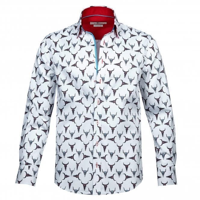 26babed62 Pure Cotton BULL SKULL Print shirt