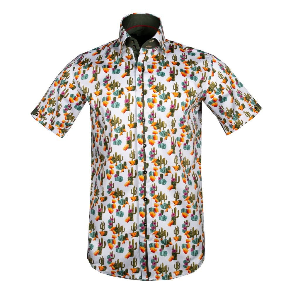 dc220dc7e87 CLAUDIO LUGLI MENS CACTUS SHORT SLEEVE SHIRT