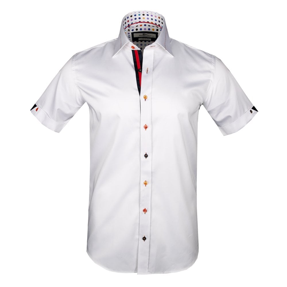 6326507d39d CLAUDIO LUGLI POLKA DOT INTERIOR SHORT SLEEVE - CLAUDIO LUGLI S MENSWEAR  COLLECTION from Claudio Lugli UK