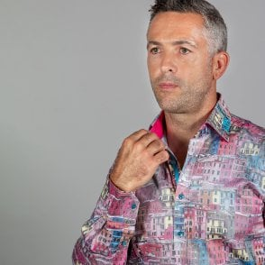 Mens Claudio Lugli Couture Shirt CP6376 Pink